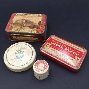 4-Antiguas-Cajas-Publicidad-Chapa-Litografiado-Pastillas-Tos-Farmacias