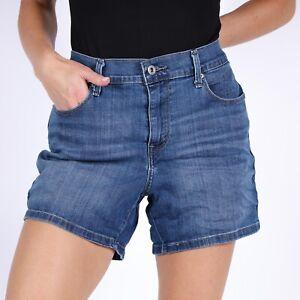 Levi-039-s-Mid-Length-Blau-Damen-Jeans-W30