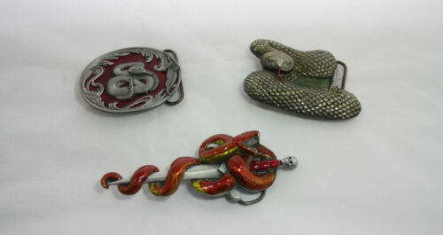 Cast Pewter Enamelled SNAKE Buckles *** 3 STYLES ***