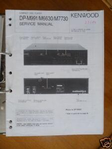 Service-manual Kenwood Dp-m991/m6630/m7730 Cd,original ZuverläSsige Leistung Tv, Video & Audio