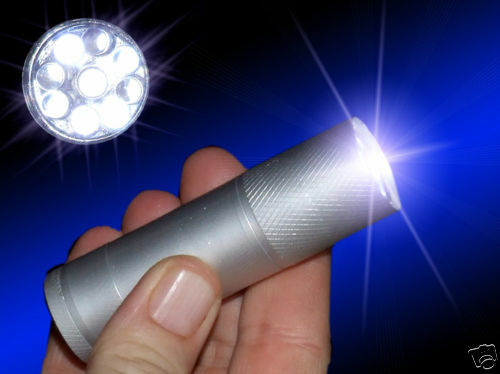 Super bright 9x led lampe de poche//torche taille compacte//uk