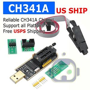 Details about USB Programmer CH341A Series Burner Chip 24 EEPROM BIOS  Writer 25 SPI Flash NEW