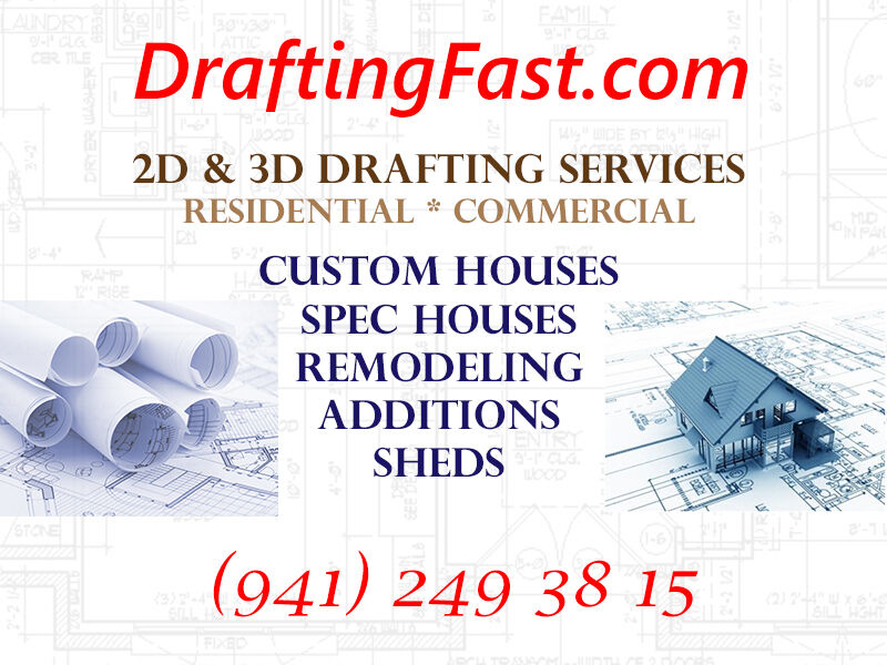 House Plan Blauprints Custom Home Design Drafting Services EXPRESS 24H AVAILABLE