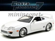 JADA 97375 THE FAST AND FURIOUS 7 BRIAN'S TOYOTA SUPRA 1/24 DIECAST CAR WHITE