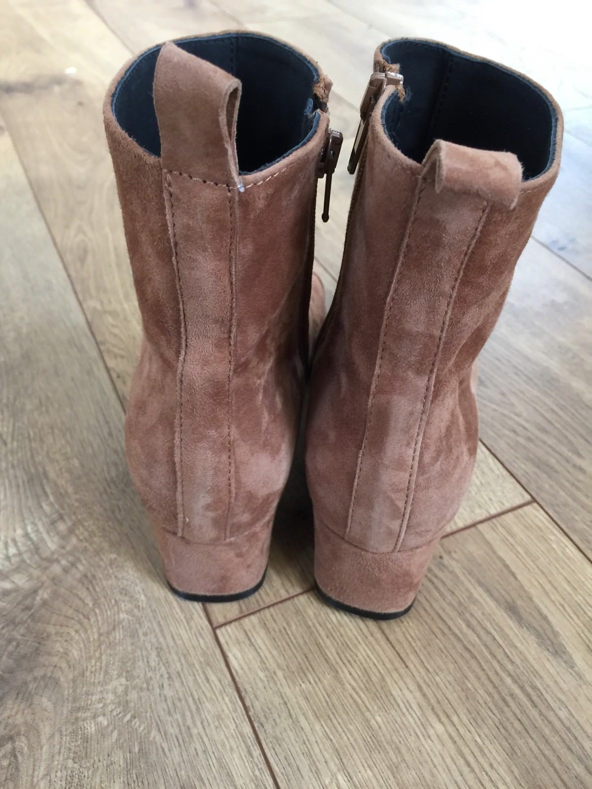 NEW CAREL FOR JCREW ESTIME SUEDE SUEDE SUEDE BOOTS SIZE 36 BEIGE CAMEL  420 F7117 VERY RARE a61f55