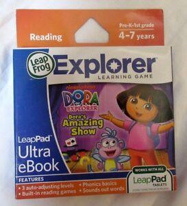 Leap-Frog-Dora-The-Explorer-034-Dora-039-s-Amazing-Show-034-LeapPad-Ultra-eBook-NOS-2012