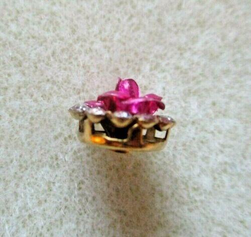 10MM Oro Rosa de Cristal Joyas Fucsia Rosado detrás Coser en los botones diferentes tamaños de envase
