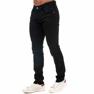 Hommes-Replay-Anbass-Slim-Fit-Jeans-en-Noir