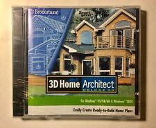 3D Home Architect Deluxe Version 3.0 PC Computer Program Broderbund 1999  CD Rom