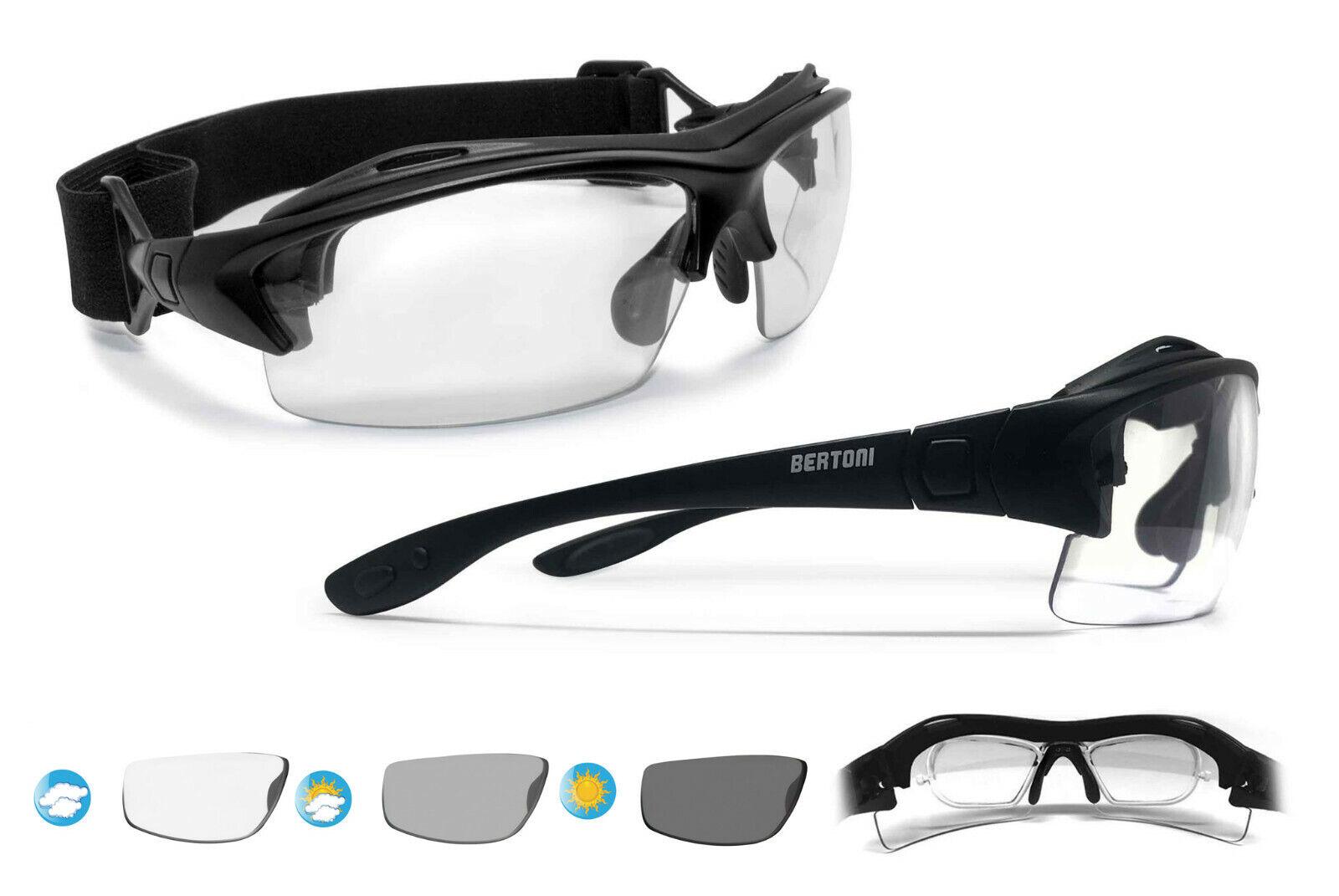 Bertoni Sport Prescription Photochromic Sunglasses ConGrünible to Goggles - F399