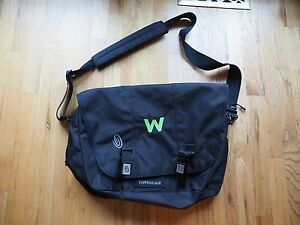 Image Is Loading Timbuk2 Classic Messenger Bag Large Black Compartments Padded
