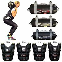 Sporteq Weighted Jacket Training Vest 10 - 20kg+with Power Bags Exercise 5-15kg