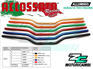 MANUBRIO-YAMAHA-MT-01-MT01-2005-2009-22mm-ALLUMINIO-ACCOSSATO-RACING