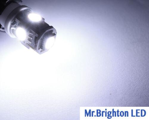 10Pcs Super White T10 Wedge 5-SMD 5050 LED Car Light bulbs License Plate W5W 194