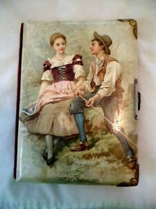 Vtg Antique Cabinet Card Photo Album Victorian With 4 Old Pictures