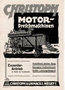 Dreschmaschine Fa. Christoph & Unmack  Prospekt