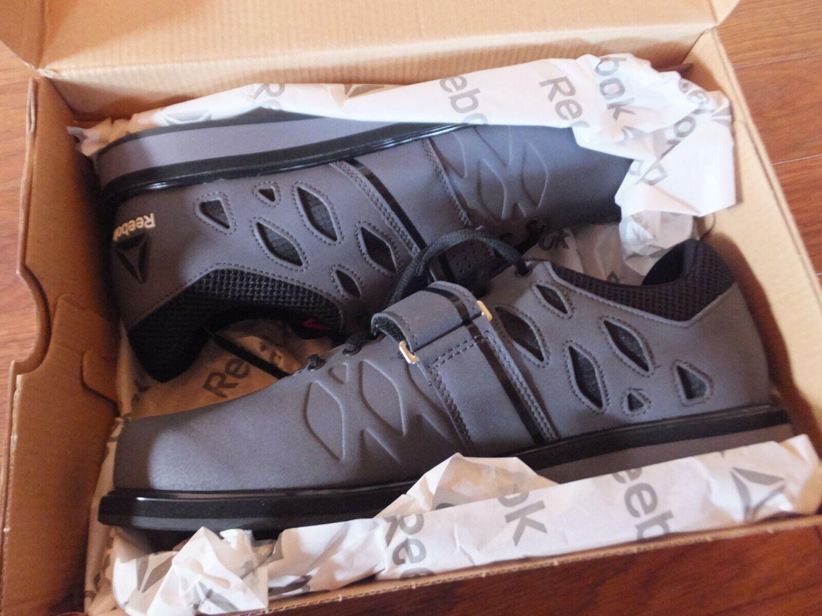 Reebok levantador pr el levantamiento de  pesas Zapato-gris Negro-De Hombre 10 etiquetas nuevas 40% De Descuento  gran descuento