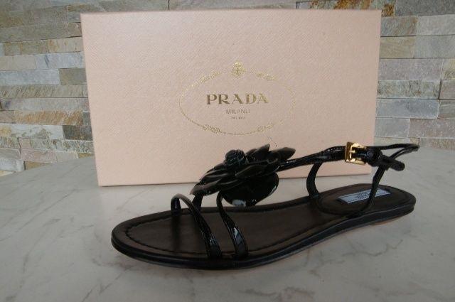 Prada sandalias zapatos sandals Shoes 1x654d negro Black nuevo PVP