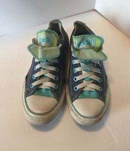 f44222030be962 Chuck Taylor Converse All Star Women s Size 7 Blue Denim Double ...