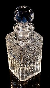 Stunning-Heavy-Vintage-Crystal-Decanter