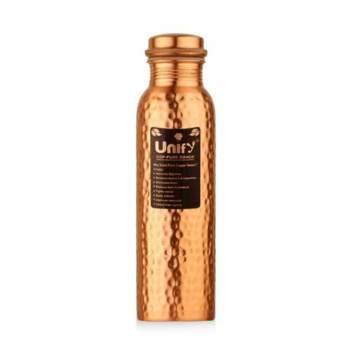 1LTR Pure Copper Water Bottle For Ayurveda Health Benefits Leak Proof1000ml