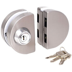 Details About Entry Gate 10 12mm Gl Swing Push Sliding Door Lock With Keys Ss