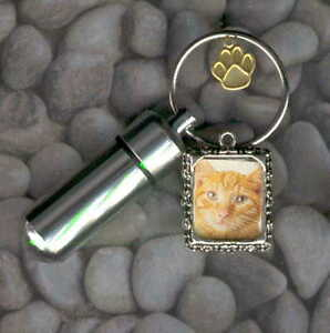 AJP,Cat Bell,Cat Tag,Keychain Urn,Feline,Pet Cremation Urns,Cat,Pet ID,Urns