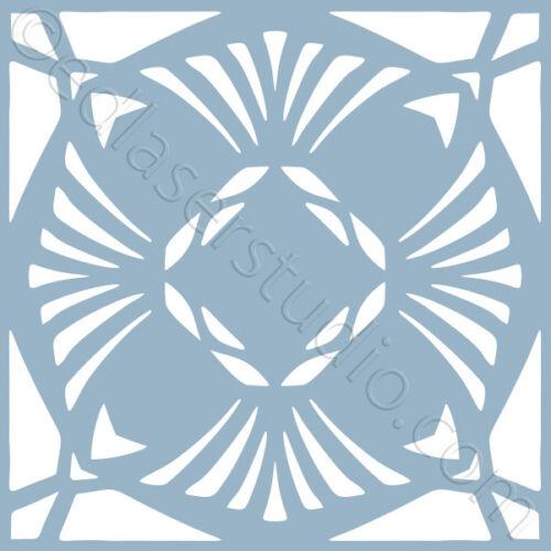 Azulejo de la plantilla 100mm marroquí Plantilla Muebles Hogar Decoración De Pintura Manualidades Arte TL27