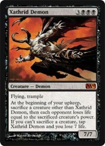 English Magic 2010 MTG Magic 1x Xathrid Demon NM-Mint