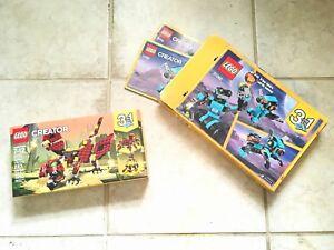 Lego-Creator-3-In-1-Bundle-31062-31073-Robot-Dragon-Ages-7-12-Blue-Burgundy