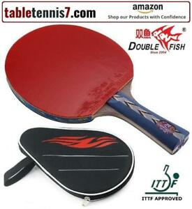 + SALE! Double Fish 5 Star Professional PING PONG PADDLES - ITTF APPROVED with FREE CASE + Ontario Preview