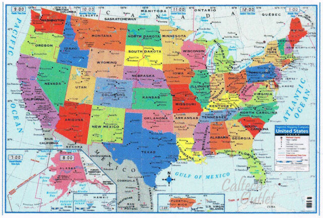 USA United States Map Poster Size Wall Decoration Large Map of The USA 40\