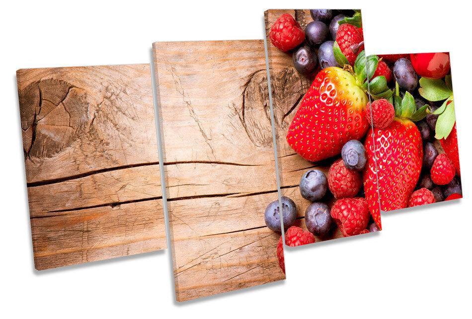 Fresa Frutas Cocina rojo Multi tela pa rojo Cocina  arte Foto Impresión feed5e