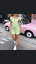MOTEL-ROCKS-Gaval-Mini-Dress-in-Satin-Rose-Lime-XS-mr25 thumbnail 1