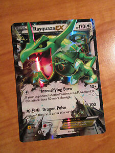 NM Pokemon RAYQUAZA EX Card ROARING SKIES Set 75//108 XY X and Y Ultra Rare