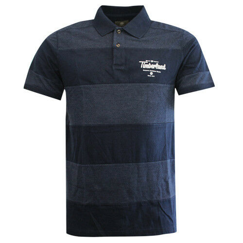 Timberland Earthkeepers Navy Pannello COTONE polo uomo Top Shirt 7325J 433 R12B