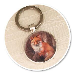 Fox Woodland Wildlife keyring key ring (O)