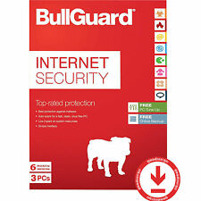 BullGuard Internet Security 2017 Latest 3 PCs Antivirus Spamfilter 6 Months NEW