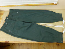 Wehrmacht Green HBT Linen Pants Drillich Uniform Hose Feldhose