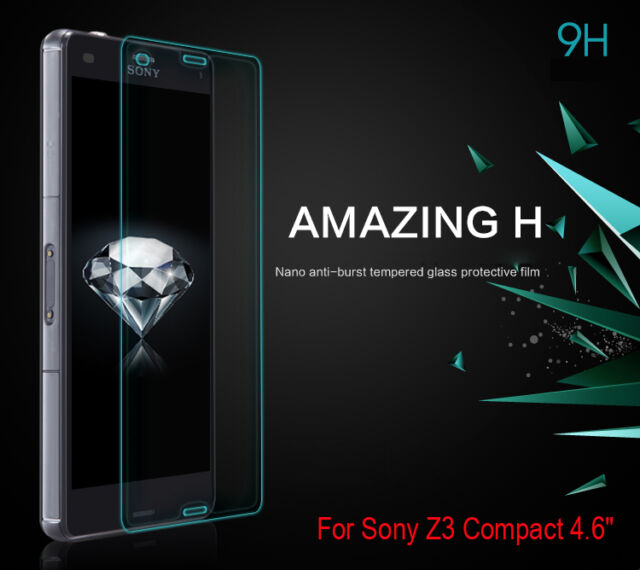 """For Sony Xperia Z3 Compact (z3 mini) 4.6"""" Tempered Glass Screen Film Protective"""