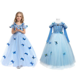 Good Image Is Loading Girls Cinderella Princess Butterfly Halloween Costume For  Kids
