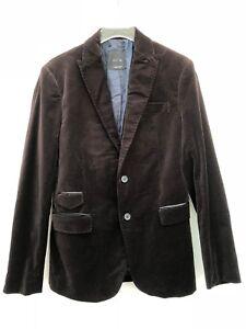 Detalles acerca de Chaqueta Blazer Zara para hombre de terciopelo marrón Talla 40 EUR 50 EE. UU. mostrar título original