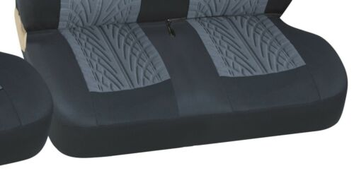 For Iveco Daily Van Tyre Mark Thread Grey  Fabric Van Seat Covers 2+1
