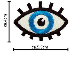 Augen Patches Aufbügler Aufnäher Abzeichen Bügelbild Aufnäherbild