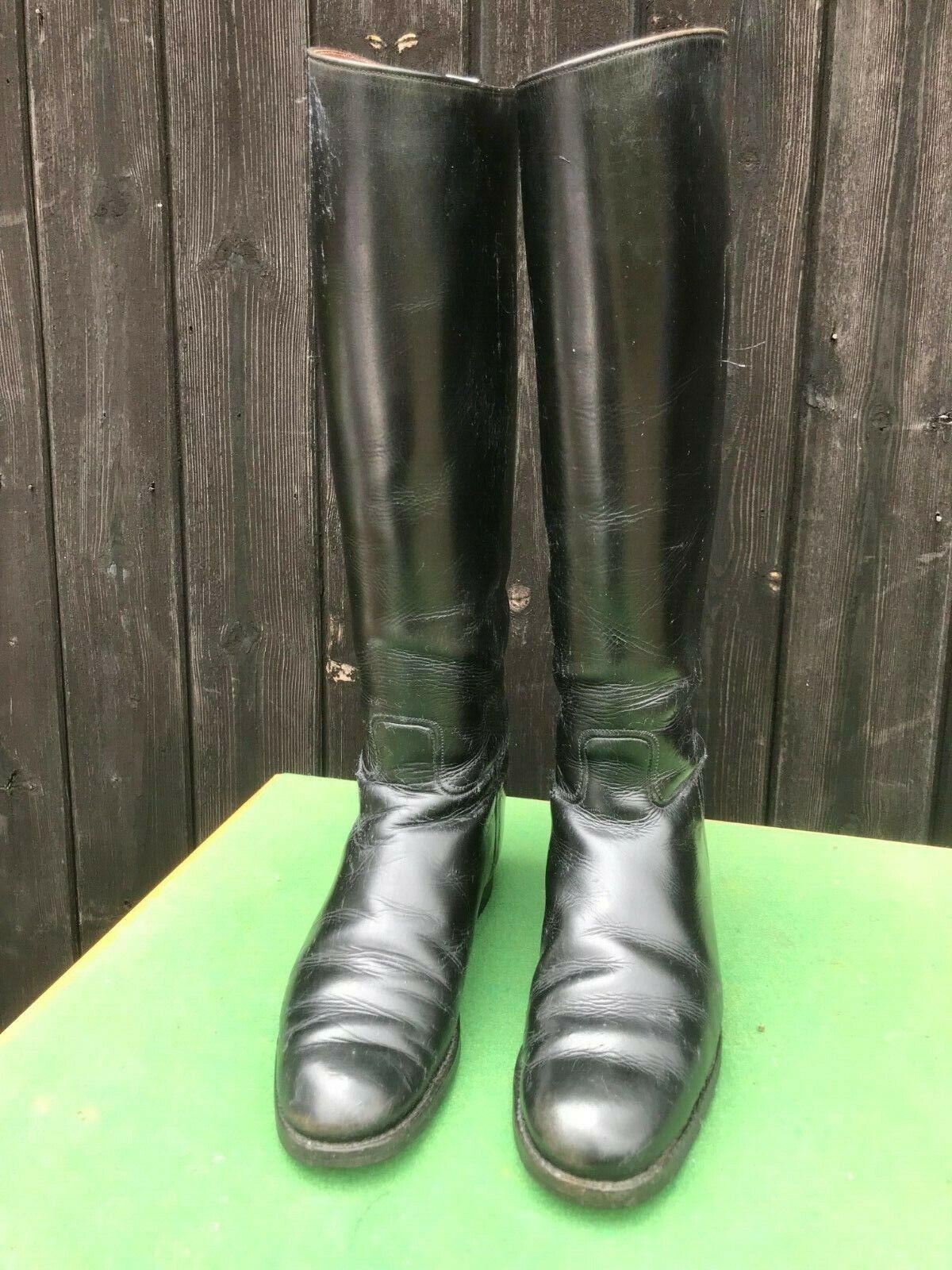 Stivali cavtuttierizza in pelle nera, taglia UK 55.5