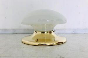 Lampada plafoniera applique ottone vetro design anni vintage