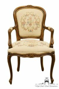 Wondrous Details About Chateau Dax Italian Provincial Accent Arm Chair W Needlepoint Seat Ibusinesslaw Wood Chair Design Ideas Ibusinesslaworg