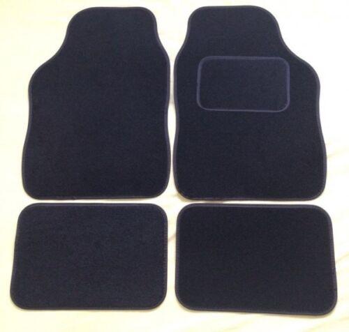 4 PIECE BLACK CAR FLOOR MAT SET CHRYSLER YPSILON 11 on