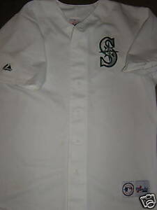 new style df51b 56738 Details about Seattle Mariners Throwback Mens Size Medium Jersey