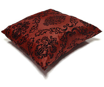 "New Decorative Decor Throw Sofa Pillow Case Cushion Cover Velvet Flock 17"" x 17"""